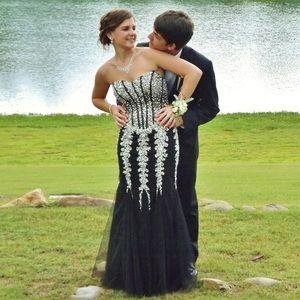 Black bedazzled Jovani Prom Dress